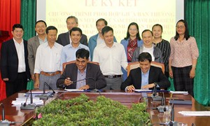Lâm Đồng: Ký kết chương trình phối hợp vận động Nhân dân tham gia thực hiện chính sách pháp luật về BHXH, BHYT