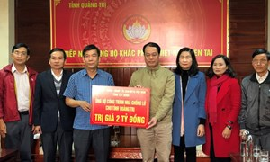 Tỉnh Tây Ninh ủng hộ nhân dân Quảng Trị 2 tỷ đồng xây nhà chống lũ