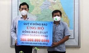 Ủy ban MTTQ tỉnh Quảng Ngãi tiếp nhận ủng hộ khắc phục hậu quả mưa lũ