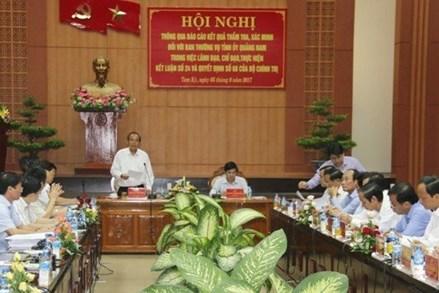 Kiểm tra việc luân chuyển, bổ nhiệm cán bộ tại Quảng Nam