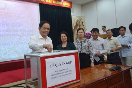 UBTƯ MTTQ Việt Nam quyên góp, ủng hộ đồng bào vùng lũ phía Bắc