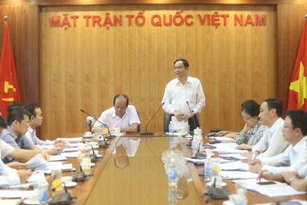 Rà soát tiến độ thực hiện Quy chế phối hợp giữa UBTƯ MTTQ Việt Nam và Văn phòng Chính phủ