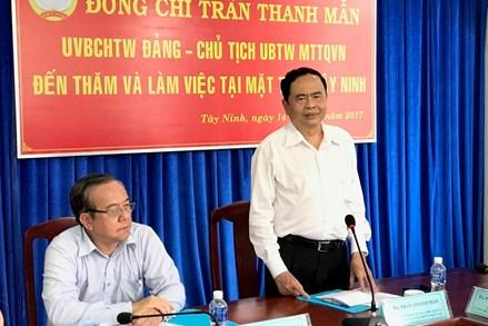 Mặt trận Tây Ninh tiếp tục phát huy hiệu quả công tác tôn giáo, công tác đối ngoại nhân dân