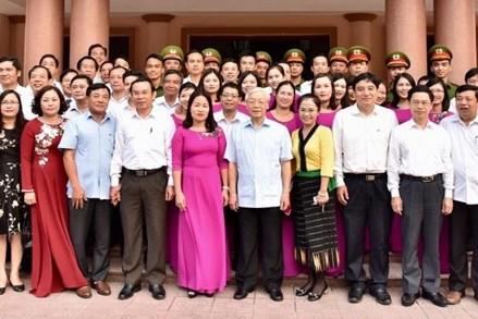 Tổng Bí thư Nguyễn Phú Trọng thăm, làm việc tại Nghệ An và Quân khu 4