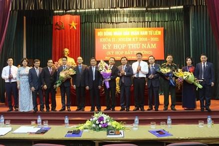 Hà Nội: Nam Từ Liêm có tân Chủ tịch, Phó Chủ tịch UBND quận