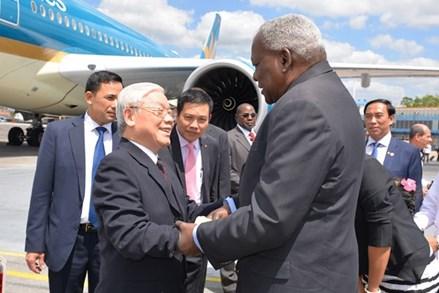 Tổng Bí thư Nguyễn Phú Trọng bắt đầu thăm cấp Nhà nước CH Cuba