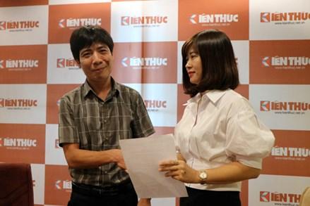 Giao Phó Tổng Biên tập Nguyễn Thị Mai Hương phụ trách Báo điện tử Kiến Thức