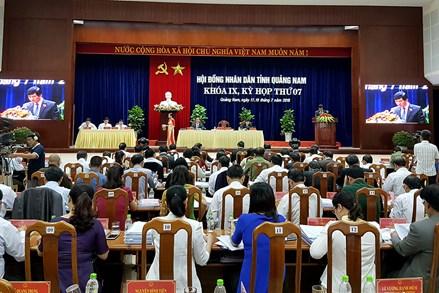 Khai mạc Kỳ họp thứ 7 HĐND tỉnh Quảng Nam khóa IX