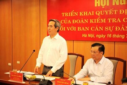 Ban Bí thư Trung ương Đảng kiểm tra việc thực hiện nghị quyết tại Bộ Tài chính và tỉnh Bến Tre