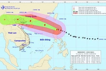 Thông tin mới nhất về siêu bão Mangkhut