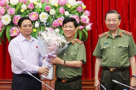 Đảng ủy Công an TƯ công bố quyết định của Bộ Chính trị về nhân sự
