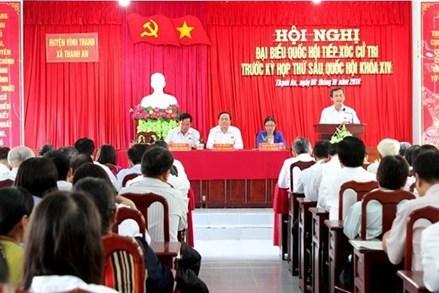 Một số giải pháp nâng cao chất lượng công tác tiếp xúc cử tri của MTTQ Việt Nam các cấp