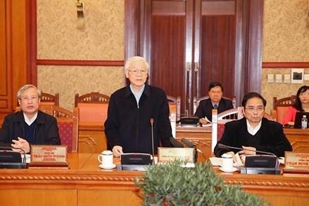 Ban Bí thư họp về thực hiện các Nghị quyết số 18 và 19; góp ý vào dự thảo chỉ thị nâng cao chất lượng đảng viên