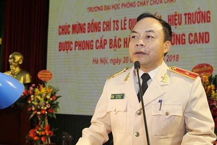 Thăng cấp bậc hàm Thiếu tướng đối với TS. Lê Quang Bốn, Hiệu trưởng Trường Đại học PCCC