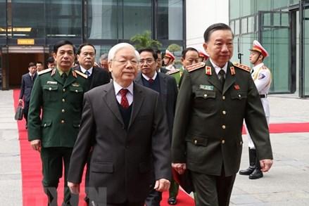 Phát biểu của Tổng Bí thư, Chủ tịch nước ở Hội nghị Công an toàn quốc