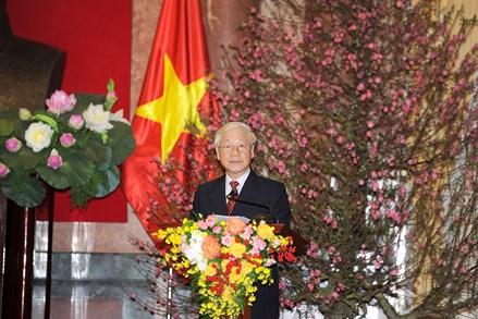 Tổng Bí thư, Chủ tịch nước chúc Tết lãnh đạo, đồng bào và chiến sĩ