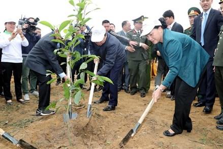Chủ tịch Quốc hội dự Lễ ra quân hưởng ứng Tết trồng cây tại Hòa Bình