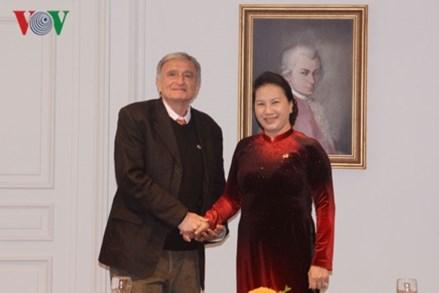Chủ tịch Quốc hội gặp Hội hữu nghị Pháp - Việt