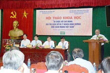Di chúc Chủ tịch Hồ Chí Minh: Giá trị lịch sử và ý nghĩa định hướng cho cách mạng Việt Nam