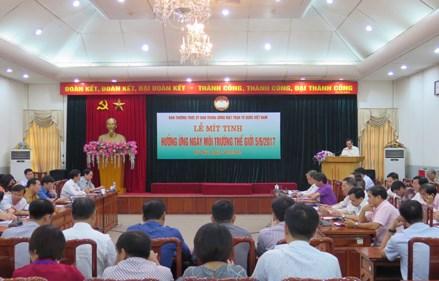Ứng phó biến đổi khí hậu và vai trò của Mặt trận Tổ quốc Việt Nam