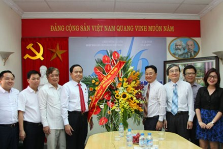 Phó Chủ tịch - Tổng Thư ký Trần Thanh Mẫn thăm, chúc mừng các cơ quan báo chí