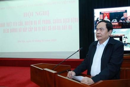 MTTQ Việt Nam tổ chức Hội nghị quán triệt phòng, chống dịch bệnh do virus Corona gây ra