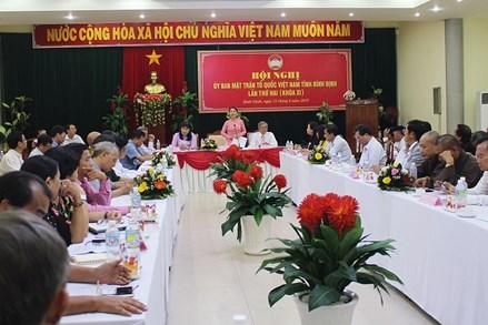 Hội nghị Ủy ban MTTQ Việt Nam tỉnh Bình Định lần thứ 2, nhiệm kỳ 2019-2024