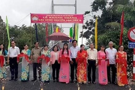 Đồng Tháp: Khánh thành Cầu Kênh Nguyễn Văn Tiếp B