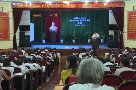 Hưng Yên: Khai giảng lớp bồi dưỡng nghiệp vụ cán bộ Mặt trận năm 2019
