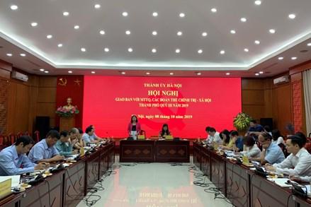Ủy ban MTTQ TP Hà Nội: Chủ động nắm bắt tình hình, tư tưởng nhân dân