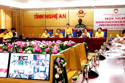 Nghệ An: Lần đầu tiên tổ chức Hội nghị trực tuyến MTTQ tỉnh