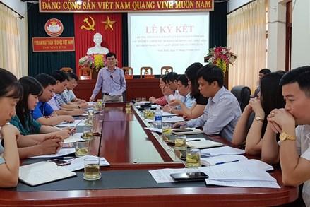 Ninh Bình: Ký kết phối hợp thực hiện Quyết định 124/TW của Ban Bí thư