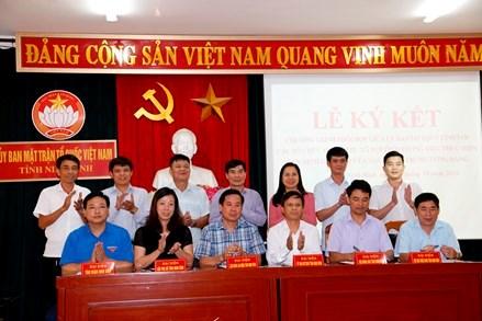 Ninh Bình: Ký kết chương trình phối hợp giữa Ủy ban MTTQ Việt Nam tỉnh với các tổ chức chính trị- xã hội