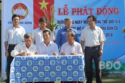 Bình Định: Ra mắt mô hình điểm bảo vệ môi trường tại làng 6, xã Vĩnh Thuận