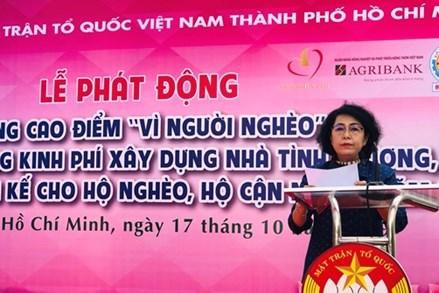 """TP. Hồ Chí Minh: Phát động hưởng ứng Tháng cao điểm """"Vì người nghèo"""""""