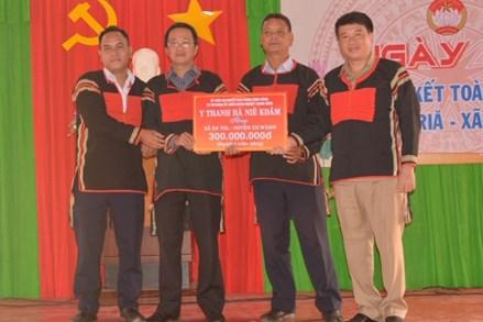 Đắk Lắk: Ngày hội Đại đoàn kết toàn dân tộc tại buôn Triă