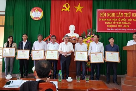 Bình Định: Hội nghị Ủy ban MTTQ Việt Nam huyện Tây Sơn lần thứ 3