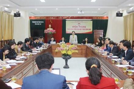 Ủy ban MTTQ tỉnh Nghệ An tổ chức hội nghị triển khai công tác Mặt trận năm 2020
