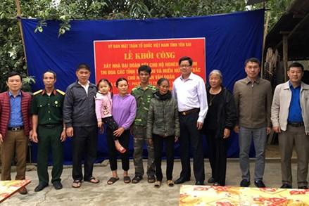 Ủy ban MTTQ tỉnh Yên Bái khởi công nhà Đại đoàn kết cho hộ nghèo