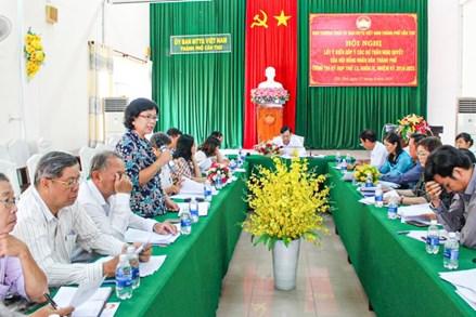 Ủy ban MTTQ thành phố Cần Thơ :Nâng chất hoạt động của các Hội đồng tư vấn Mặt trận
