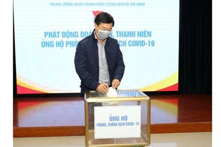 Phát động tuổi trẻ cả nước ủng hộ phòng chống dịch Covid-19