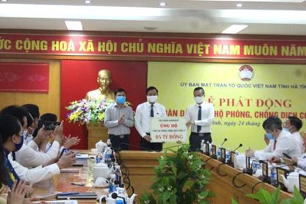 Hà Tĩnh: Hơn 18 tỷ đồng ủng hộ công tác phòng chống dịch Covid-19