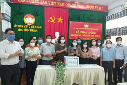 Mặt trận Bình Thuận phát động ủng hộ phòng, chống dịch Covid-19