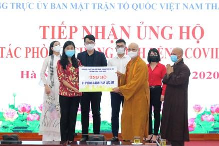 Mặt trận TP Hà Nội: Tiếp nhận hơn 4 tỷ đồng ủng hộ phòng, chống dịch Covid-19