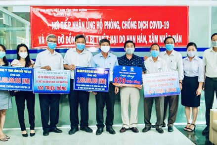 Ủy ban MTTQ Việt Nam tỉnh Bình Dương: Tiếp nhận hơn 4 tỷ đồng ủng hộ phòng chống Covid-19 và người dân vùng hạn mặn