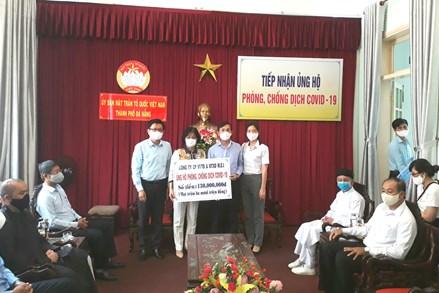 Mặt trận TP Đà Nẵng tiếp nhận đợt 2 ủng hộ phòng chống dịch Covid–19
