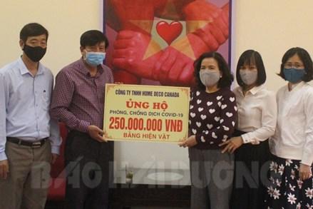 Hải Dương: Hơn 800 triệu đồng ủng hộ Quỹ phòng chống Covid-19