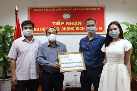 MTTQVN tỉnh Long An đã tiếp nhận gần 4 tỉ đồng ủng hộ phòng, chống dịch Covid-19.
