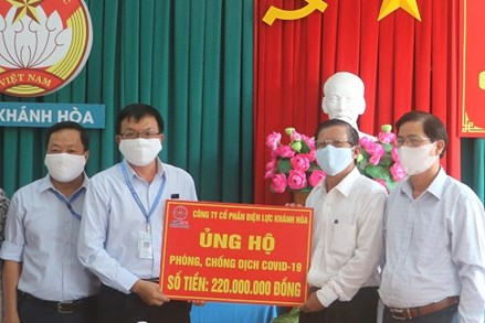 Khánh Hòa: Nhiều tổ chức và cá nhân ủng hộ phòng, chống dịch Covid-19