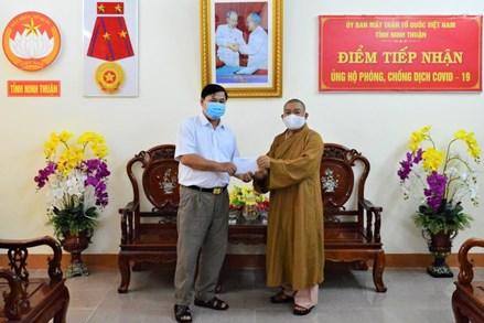 Phật giáo Ninh Thuận tích cực vận động nguồn lực ủng hộ phòng, chống dịch Covid-19